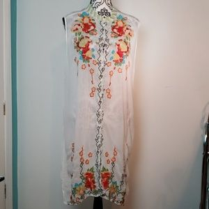 Johnny was sheer embroidered dress